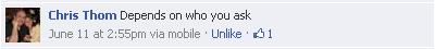 Chris Thom's Response