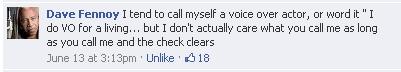 Dave Fennoy's Response