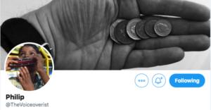 Philip Banks' Twitter profile