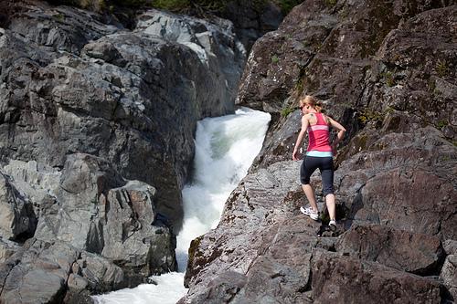 Challenging Rock Climb