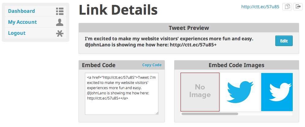 Generate New Link