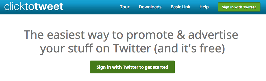 How To Sign Up For ClickToTweet