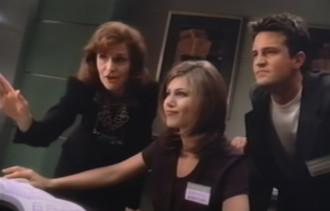Jennifer Aniston and Matthew Perry in Windows 95 training video
