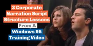 corporate narration script strucutre lessons blog post title image