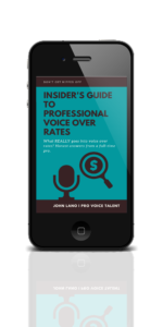 pro voice over rates guide cover