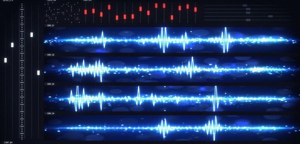 Audio Editing Waveform